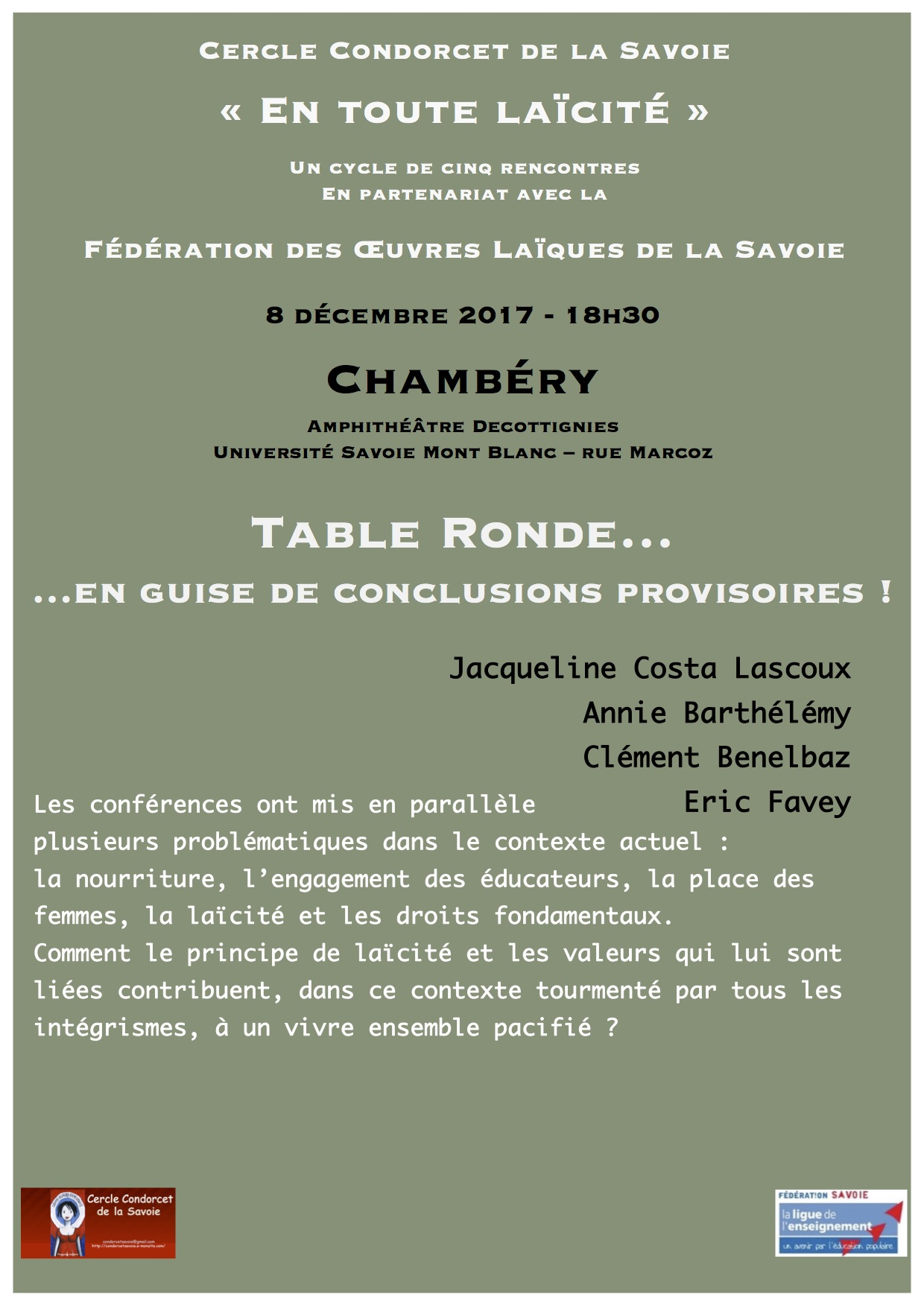 Flyer table ronde